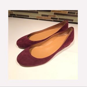 J. Crew Suede Flats Size 8